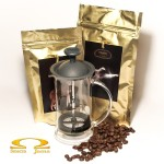 Zestaw Kawiarza - French Press Hario Slim + 400g kawy