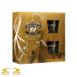 Whisky Chivas Regal XV 15 YO 0,7l + 2 szklanki