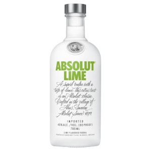 Wódka Absolut Lime limonkowa 40% 0,7l