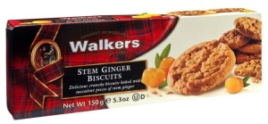Ciastka Walkers Stem Ginger 150g