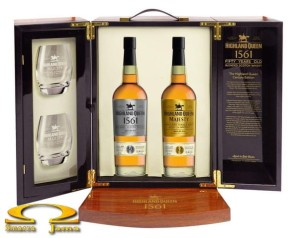 Zestaw Whisky Highland Queen Blended 50 YO 0,7l i Majesty 52 YO 0,7l