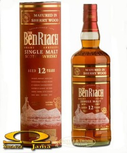Whisky BenRiach 12 Year Old Sherry Wood 0,7l