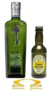 Gin London Dry No 3 0,7l + Napój Fentimans Tonic Water 0,2l GRATIS
