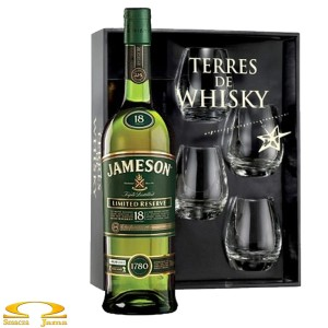 Whiskey Jameson 18 YO Terres de Whisky 0,7l +4 szklanki