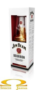 Bourbon Jim Beam White 0,7l + szklanka