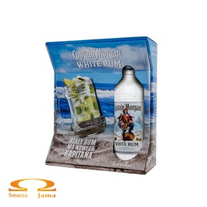 Rum Captain Morgan White 0,7l + kufel