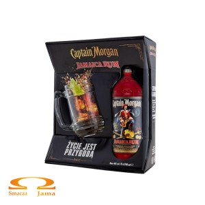 Rum Captain Morgan Black 0,7l + kufel