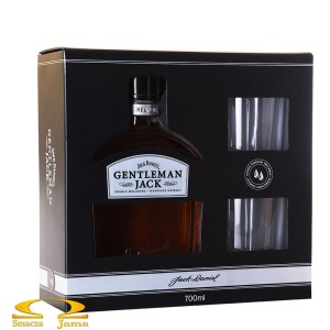 Whiskey Gentleman Jack 0,7l + 2 szklanki