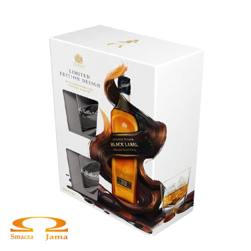 Whisky Johnnie Walker Black Label 0,7l + 2 szklanki Limited Edition 2.jpg